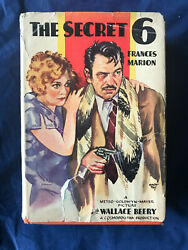 Original 1931 THE SECRET SIX photoplay 6 Jean Harlow Clark Gable Mach Tey art