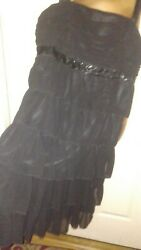 Essentials by ABS Beautiful Black Cocktail Dress Size 14 $19.99