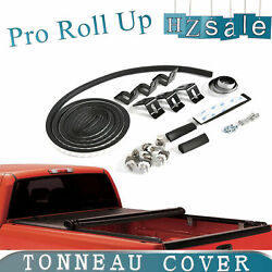 Lock & Soft Vinyl Roll Up Tonneau Cover Fit 2005-2018 Nissan Frontier 6 FT Bed