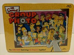 NEW The Simpsons Group Photo Card Game Sealed Collectors slightly damaged