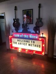6ft chasing light up and neon metal double sided marquee sign!!! RARE FIND