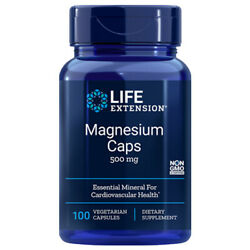 Magnesium Caps 500mg 100 Caps oxide citrate TRAACS glycinate Life Extension $10.75