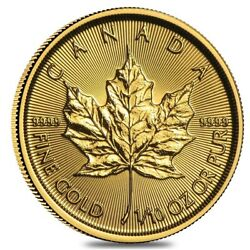 2020 1 10 oz Canadian Gold Maple Leaf $5 Coin .9999 Fine BU Sealed $222.03