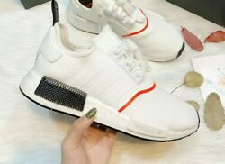Adidas Originals NMD R1 Cloud White Solar Red Black Winter EE5086 Mens Sizes $109.77