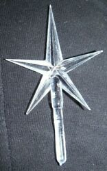 NEW CLEAR MEDIUM POINTED STAR FOR CERAMIC CHRISTMAS TREE TOPPER ORNAMENT CRAFT $2.89