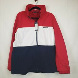 Tommy Hilfiger Womens Coat Jacket Water Resistant Block Colors NWT Size XL