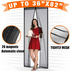 Magnetic Screen Door with Heavy Duty Strong Magnets and Mesh Curtain Transparent $19.99