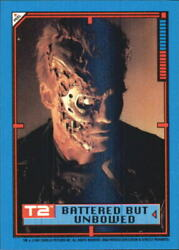 1991 Terminator II Judgment Day Stickers #29 Battered But Unbowed