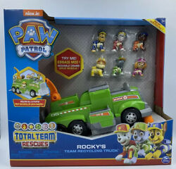 Paw Patrol Rocky's Total Team Recycling Truck  Vehicle with 6 Pups New