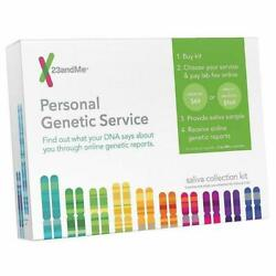 Personal Genetic DNA Collection Saliva Kit For Ancestry & Health 23 and Me NEW