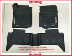 2016 2021 TOYOTA TACOMA TRD PRO ALL WEATHER RUBBER FLOOR MAT AUTO TRANSMISSION $155.80