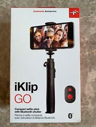 IK Multimedia iKlip Go Compact Selfie Stick With Bluetooth Shutter Remote Ctrl