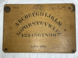 Rare Wooden Wood Antique Vintage William Fuld Ouija Board circa 1890s early 1900