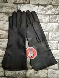 MEN#x27;S BLACK LEATHER DRIVING GLOVES SIZE 88.599.5 $39.00