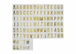 Room Essentials Light Box Letters Numbers Metallic Gold Plastic 100 Count