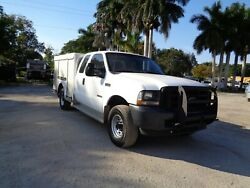 2003 FORD F350 4X4 EXT CAB 4DR ENCLOSED ALLUMINUM UTILITY BED SERVICE TRUCK