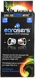 Earasers Musicians Plugs Medium with Waterproof Stash Can Case Red or Blue $39.99