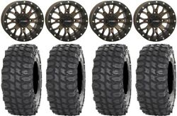 System 3 ST 3 Bronze 14quot; Wheels 28quot; X COMP Tires Yamaha Grizzly Rhino $1423.52