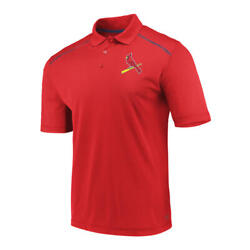 St. Louis Cardinals Men#x27;s Red Golf Polo New With Tags FREE SHIPPING $27.99