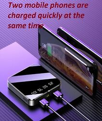 Portable Mini Power Bank Mirror Screen Digital Disply 2.1A Fast Charge $13.99