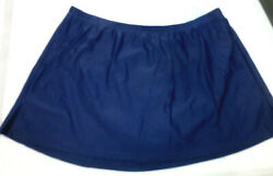 SWIMSUITS FOR ALL Womens Skirted Side Slit Swim Brief #3144 Navy Various NWT $12.99