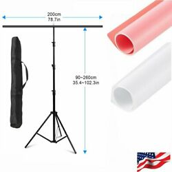 Photography 2mx2.6m T Shape Backdrop Stand PVC Background Paper White Pink US $34.99