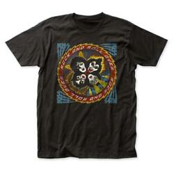 KISS Rock and Roll Over Distressed Black S S Adult T Shirt $21.99