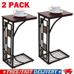 2*Coffee Tray Side Sofa Table Couch Room Console Stand End TV Lap Snack Drink BO $39.99