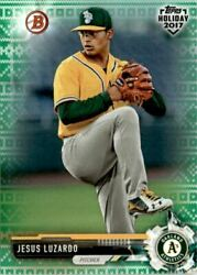 2017 Bowman Topps Holiday Ugly Sweater Green #THJL Jesus Luzardo 99 $5.40