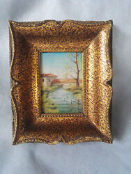 Art Old Oil Painting Peaceful Landscape Late 1930 Great Old Frame $35.00