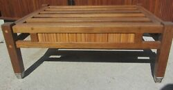 FINE VINTAGE TEAK MID CENTURY DANISH MODERN MCM COFFEE TABLE BENCH SLATS