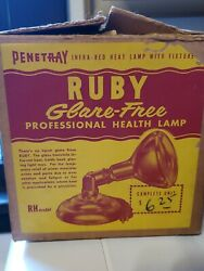 Vintage Penetray Heat Health Infra red Lamp With Original Bulb and Box Working $15.00