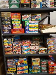 Bulk Old Unopened Baseball Cards 1200 lot Vintage in Wax Cello Rack Pack box $55.99