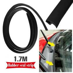 1.7m Car Rubber Front Windshield Panel Seal Strip Sealed Mounting Trim T-Shape $6.98