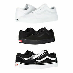 Vans Old Skool Skateboard Classic Black White Mens Womens Sneakers Tennis  $59.71