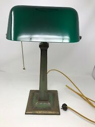 Rare Antique Aladdin Bankers Desk Lamp woriginal shade and finish WORKS!