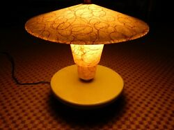 Cool Vintage original Mid century 50's atomic mod Table light fiberglass lamp