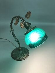 "Rare Signed Bradley & Hubbard  #4204 Swimming Fish Desk Lamp 16"" X 15"" 7 12"""