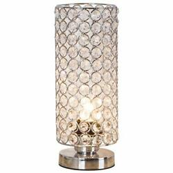 Zeefo Crystal Table Lamp Nightstand Decorative Room Desk Lamp Night Light Lamp