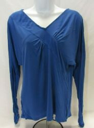 Women#x27;s Medium Blue BCBG Maxazria Long Sleeve Top