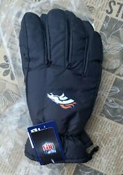NEW Denver Broncos Gloves Logo Insulated Winter NEW Unisex S M Adults $14.40