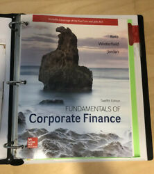 Fundamentals of Corporate Finance 12th Edition Ross Loose Leaf Textbook $69.99