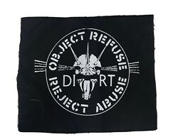 Dirt Small Patch *Zounds The Mob Crass Conflict Rudimentary Peni Antisect* $1.50