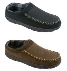 George Men#x27;s Brown or Black Rugged Slip on Clog Slippers Shoes $19.99