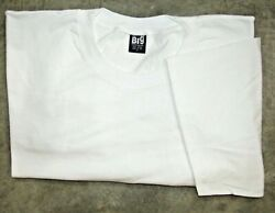 JUST BIG Men#x27;s Crew Neck Short Sleeve Tee Shirt White 7XL amp; 8XL MADE IN USA $14.99
