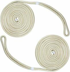 2 Pack 1 2 Inch 15 FT Double Braid Nylon Dock Line Mooring Rope Boat Anchor Line $19.99