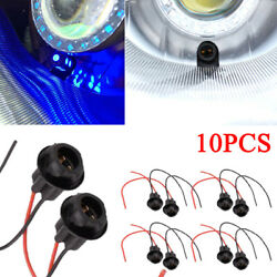 10x T10 W5W 168 194 Car Socket Connector Extension LED Bulb Wedge Light Base