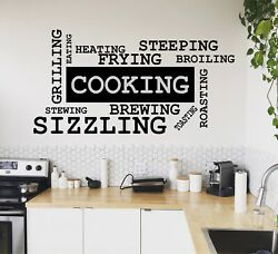Kitchen Wall Decal Vinyl Sticker Cooking Housewife mural art decor Quote Art $29.99