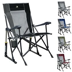 GCI Outdoor RoadTrip Rocker Chair Camping Folding Rocking Portable Cup Holder $64.99