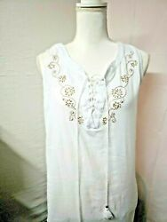 Wearabouts Swimsuit embroidered Cover Up Dress Size S color white $13.00